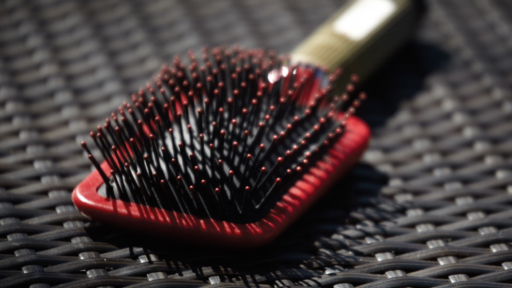 red hair brush