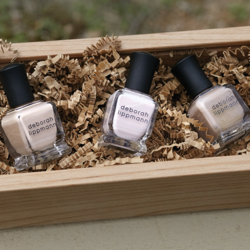 deborah lippmann nail polish in small wooden box