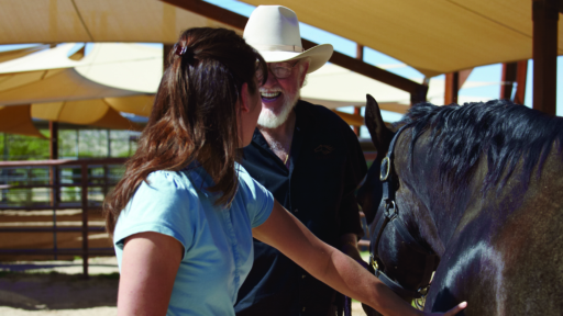 wyatt webb introducing woman to horse