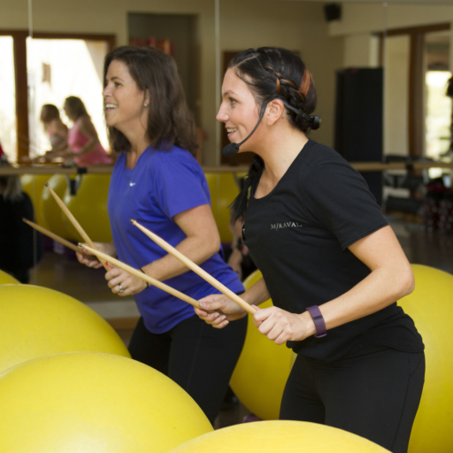 cardio drumming activity at miraval arizona resort & spa