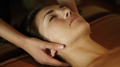 person enjoying a neck and shoulder massage