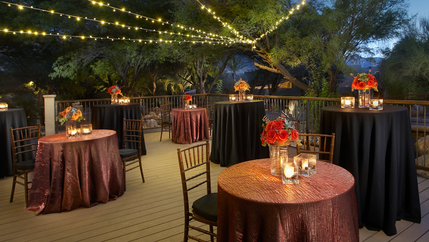 hidden creek deck event venue at miraval arizona resort & spa