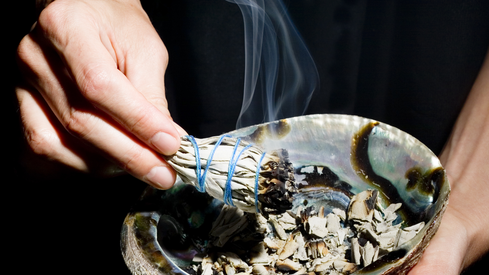 burning herbs used for smudging