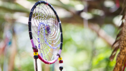 colorful and traditional native american dream catcher