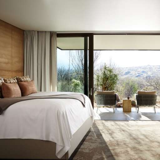 sunrise room at miraval arizona resort & spa with santa catalina mountain views