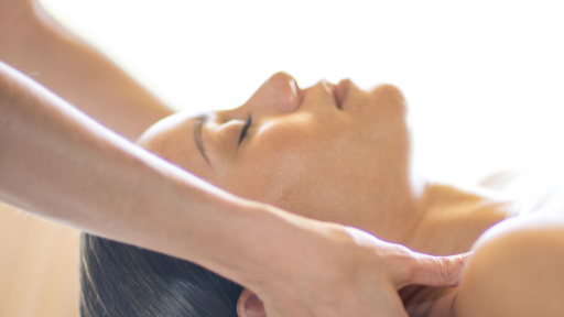 woman receives miraval grounding massage