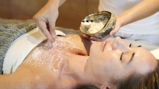 Woman enjoys spa treatment and exfoliation at Miraval Arizona.