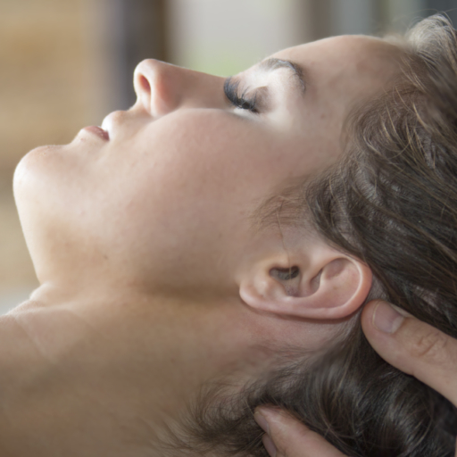 woman receives lymph draining massage