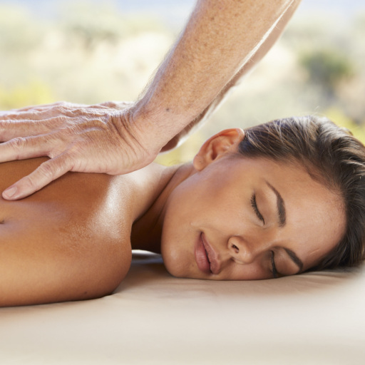 woman enjoying massage at life in balance spa
