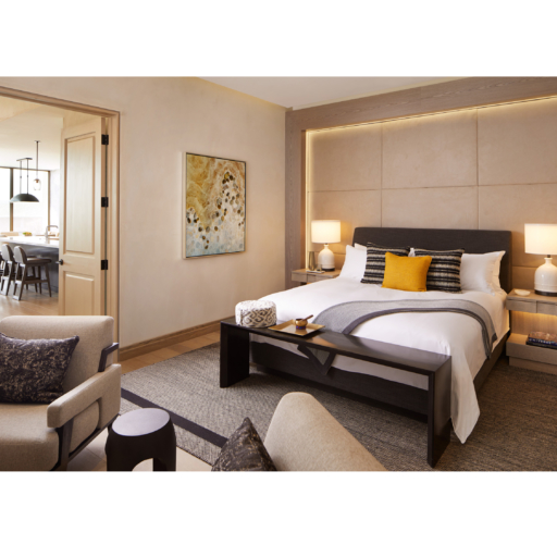 king-sized master bed in retreat suite