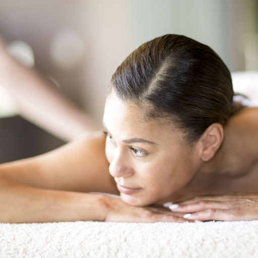 woman relaxing before treatment at miraval life in balance spa