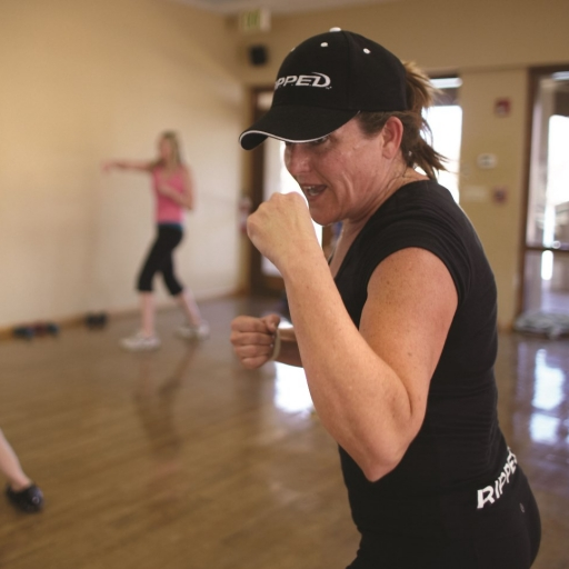 woman in boxing position