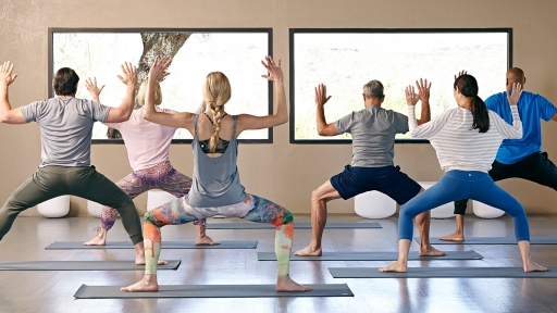 yoga groove class at miraval arizona resort & spa