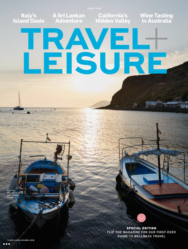 Cover of Travel and Leisure magazine for June 2018.
