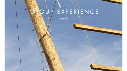Cover of the Group Experience Guide at Miraval Arizona.