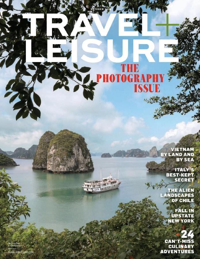 Cover of Travel and Leisure Magazine for October 2018