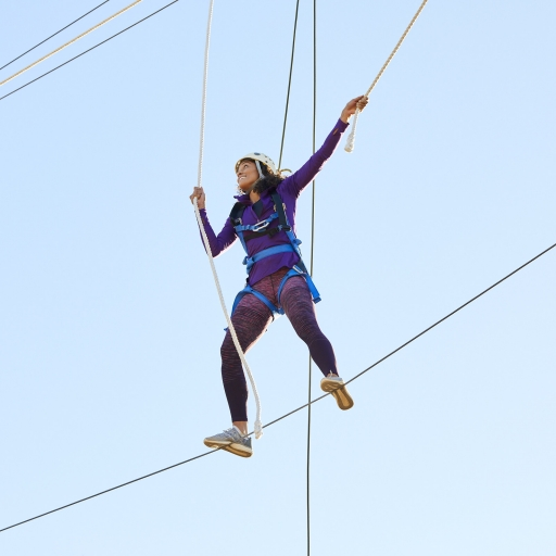 tightrope challenge course in tucson at miraval arizona resort & spa