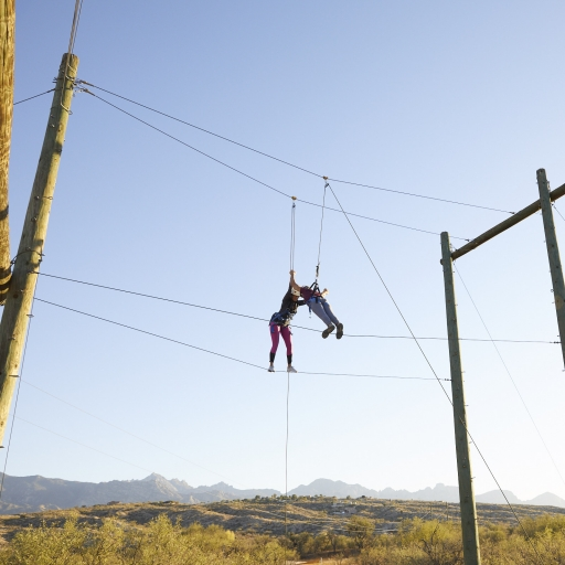 flying trapeze at our spa resort in Tucson