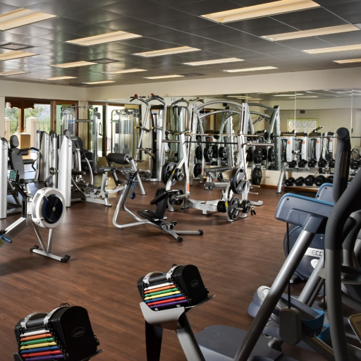 View of the exercise room and fitness center at Miraval Arizona.