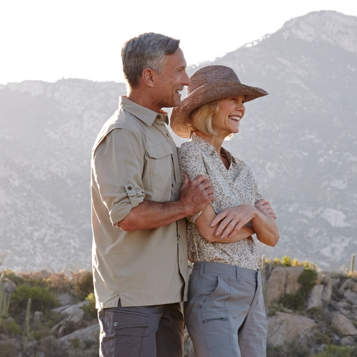 couple admiring the desert of tucson, arizona