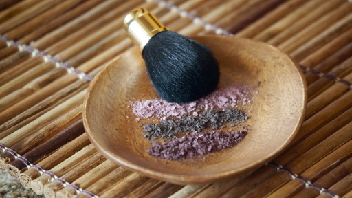 powdered makeup in a dish