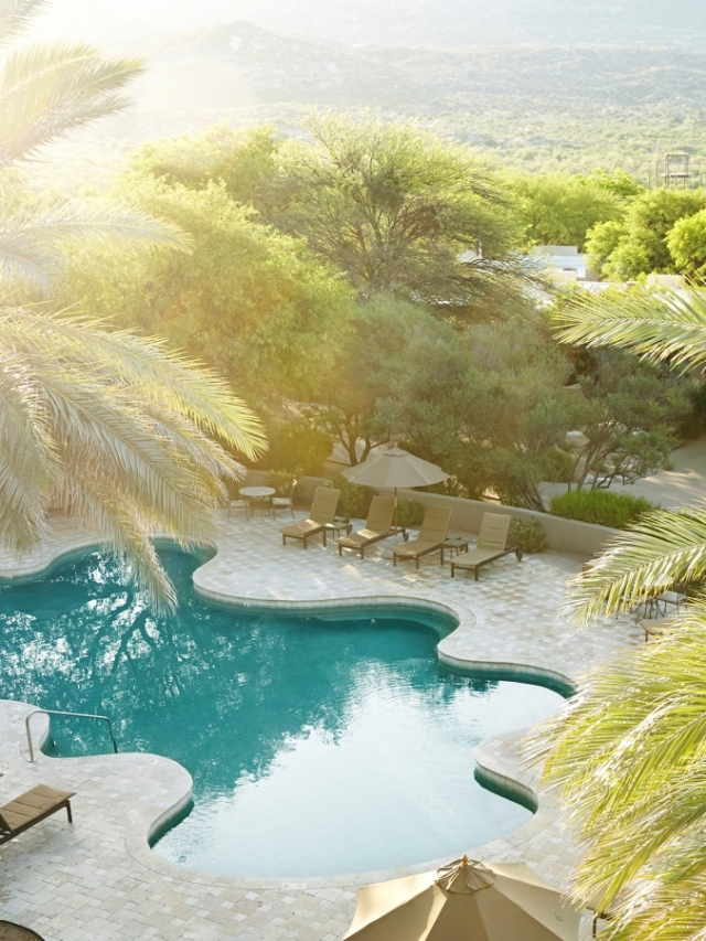 outdoor pool at miraval arizona resort & spa