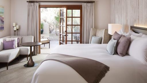 View of inside of guest room at Miraval Arizona Resort.