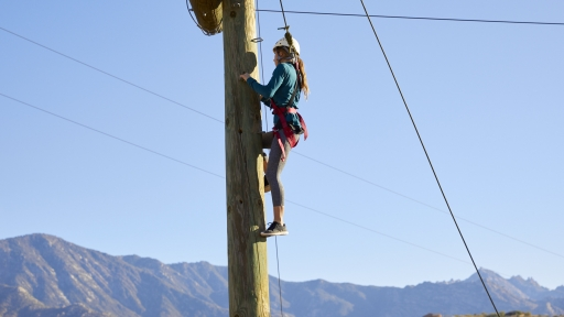 woman climbing to the top of quantum leap