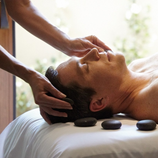 man starting his day with the miraval man facial